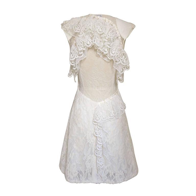 Nina Ricci Ethereal Lace Cutout Back Dress