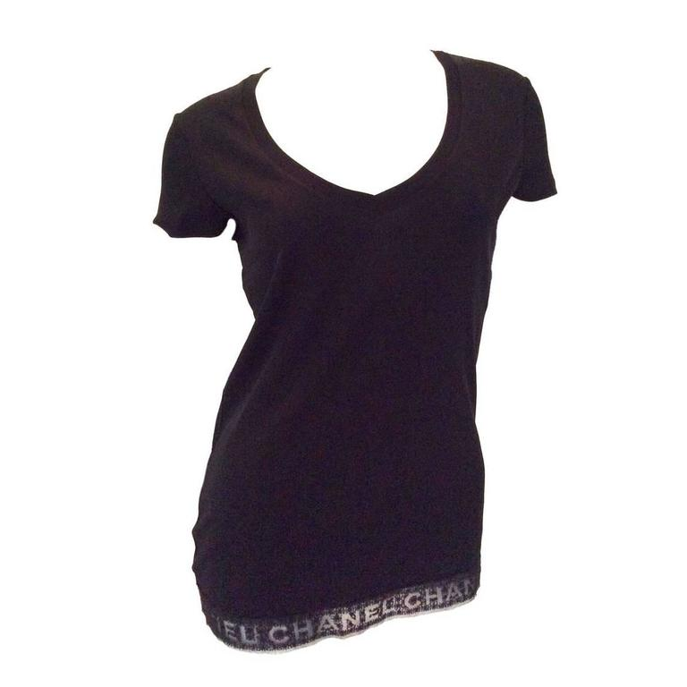Chanel Black Tee Shirt - Size 36 1
