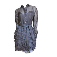 Fabulous Moschino Silk Ruffle Skirt Dress