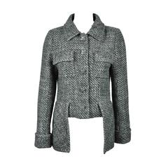 Chanel 2015 S/S Collection Grey/Blue Fantasy Tweed Jacket FR38