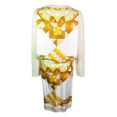 Hermes 2011 Fall-winter Runway Scarf Print Alpaca Knit Top & Skirt Suit