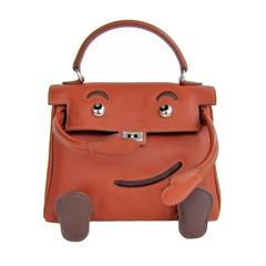Hermes Quelle Idole Kelly Doll Bag Noisette Leather Rare Limited Edition