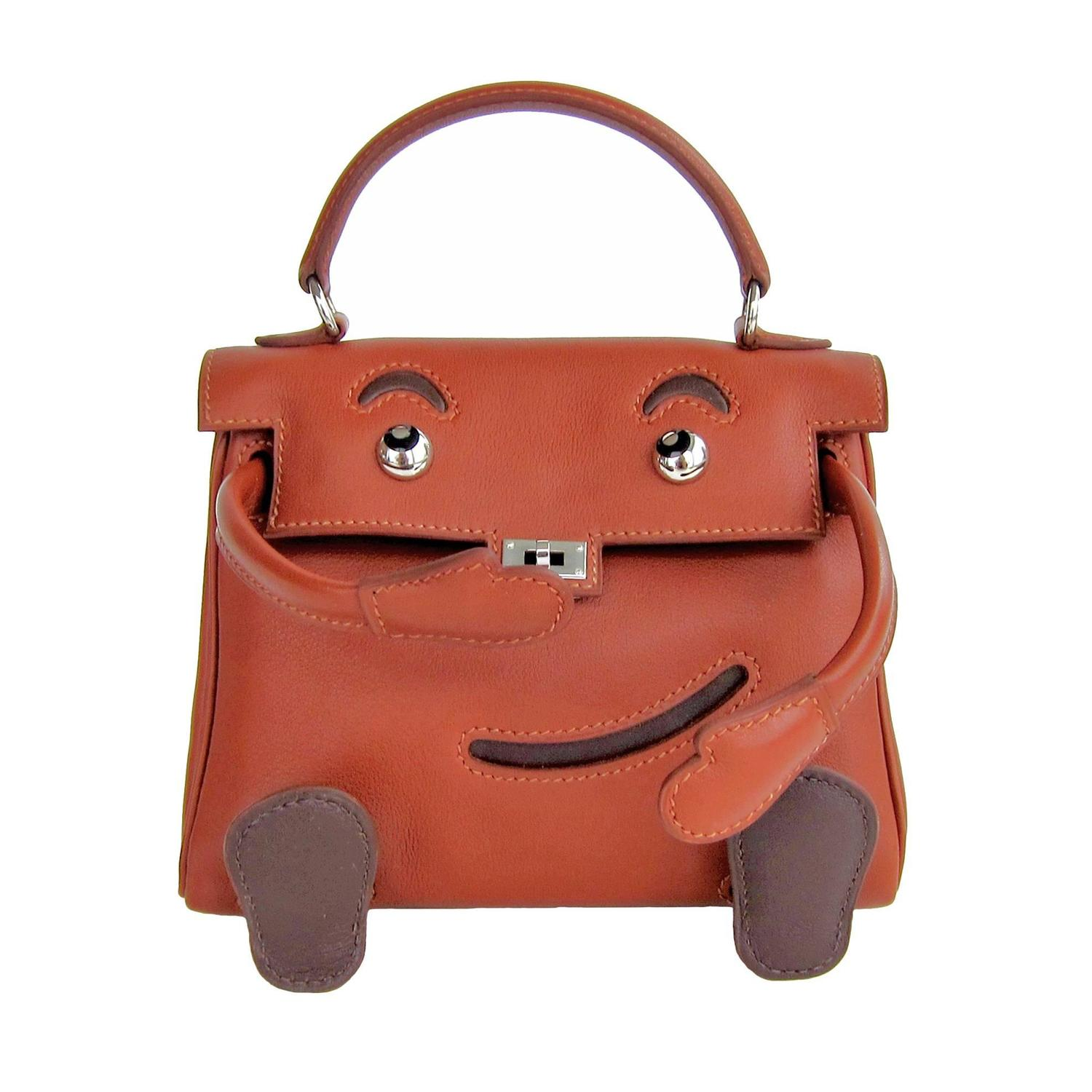 hermes tote - Hermes Quelle Idole Kelly Doll Bag Noisette Leather Rare Limited ...