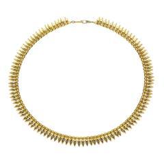 Estyn Hulbert Handmade Gold-Plated Beads Citrine Glass 14k Clasp Bullet Necklace