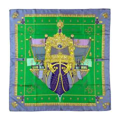 A VERY RARE Vintage Hermes Silk Scarf Designed in 1953 by Hugo Grygkar