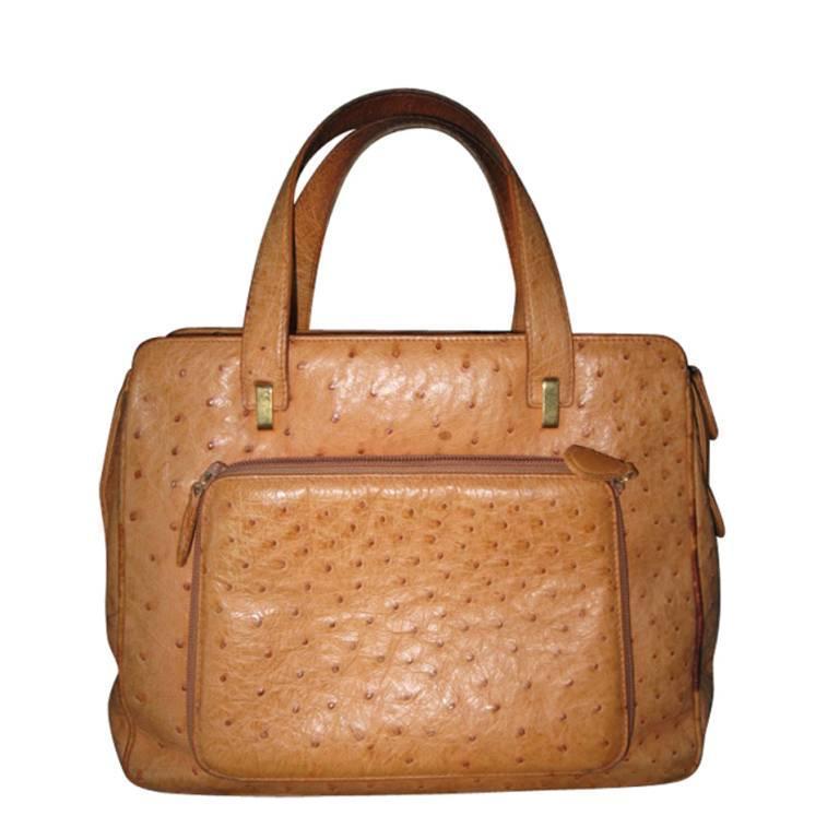 Suarez NY Ostrich Bag  For Sale