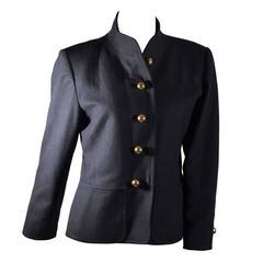 Yves Saint Laurent Rive Gauche Gold Button Coat