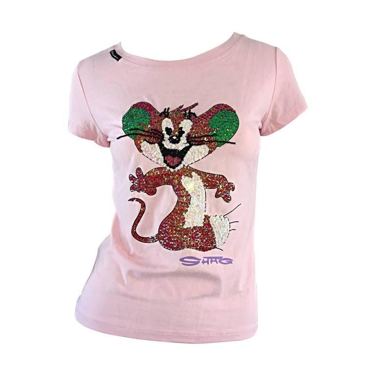 Rare 90s Dolce and Gabbana D & G ' Tom and Jerry ' Vintage Tee Shirt Top NWT For Sale