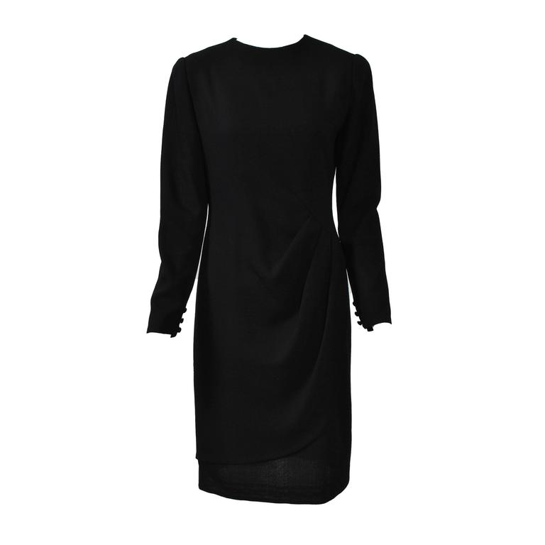 Bill Blass Black Wool Sheath