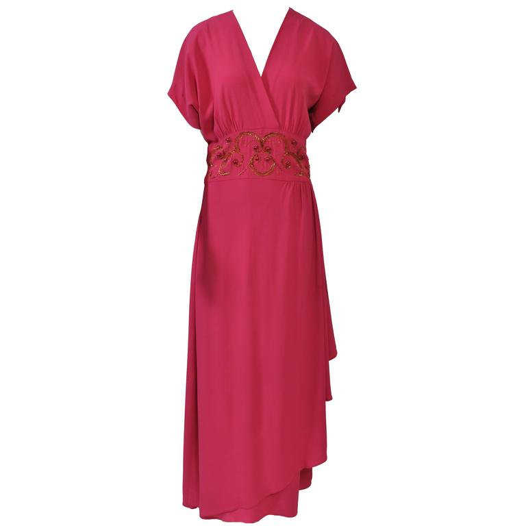 Emma Domb Rose 1940s Gown For Sale