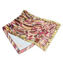 Oblong Pucci Silk Abstract Scarf