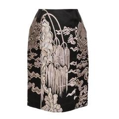 TOM FORD for YVES SAINT LAURENT JACQUARD SKIRT