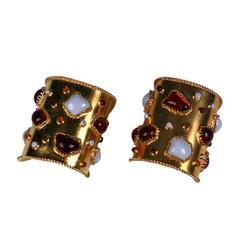 YSL Haute Couture Gripoix Cuffs