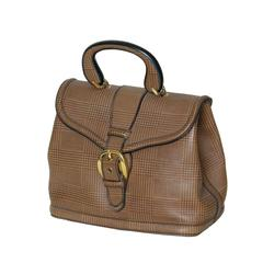 Plaid Leather Handbag