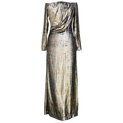 "Yves Saint Laurent Vintage ""Divine Gold Long Dress"""