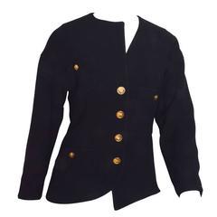 Chanel Black Asymmetrical Jacket
