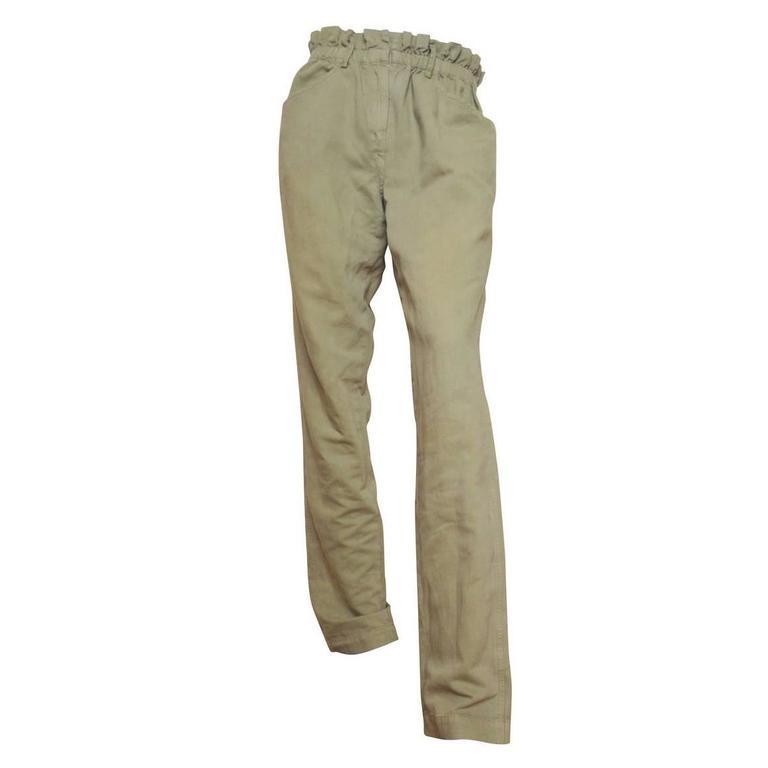 Contraste Pantalon Ceinturé - Vert Marant Isabel i5ZyoG