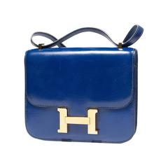 Hermès Constance  Divine Blue  Leather  bag