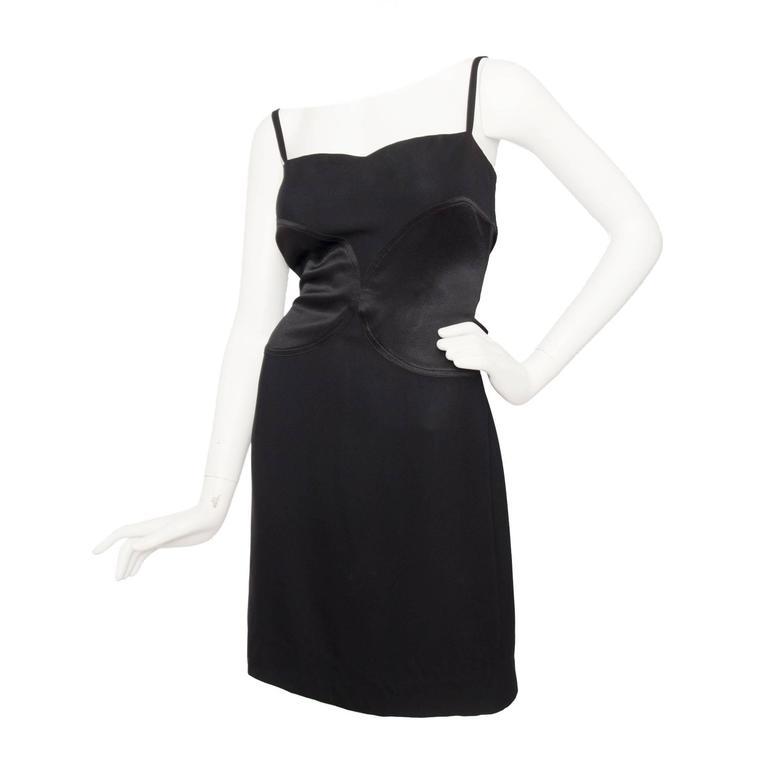 90s Sonia Rykiel Little Black Wool Dress