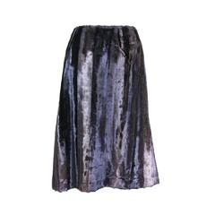 Jean Paul Gaultier Purple Faux Fur Velvet Skirt