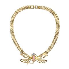 Vintage Givenchy Dragonfly Necklace