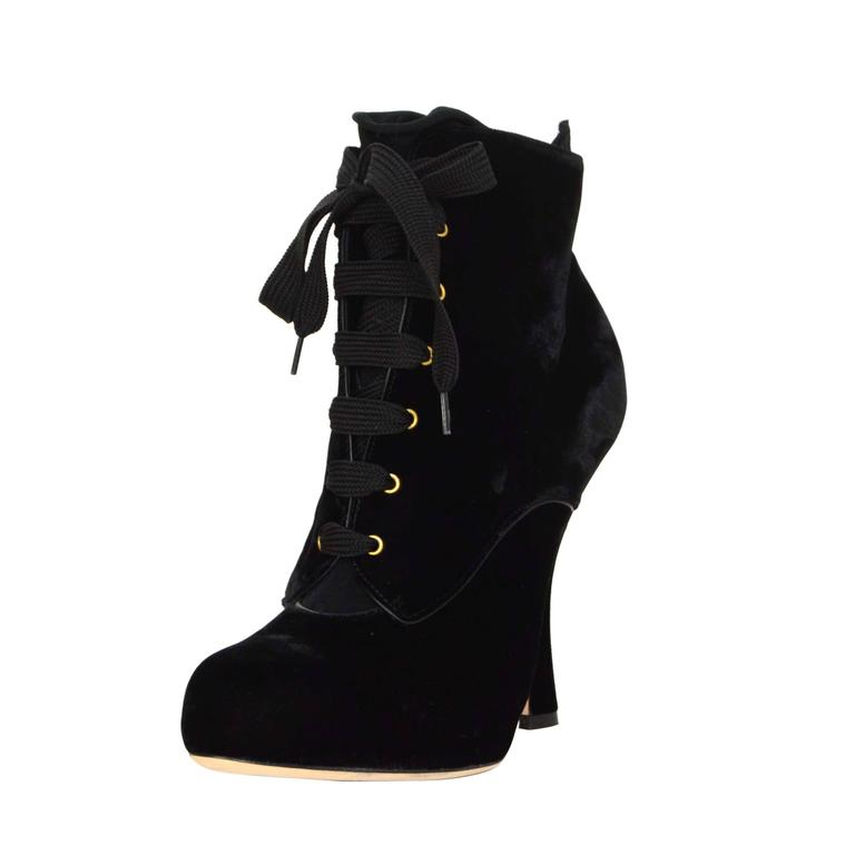 Dolce & Gabbana Suede Lace-Up Booties cheap wiki 1CPs6BYqlq