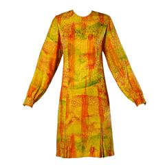 Lihli Vintage Ombre Silk Dress