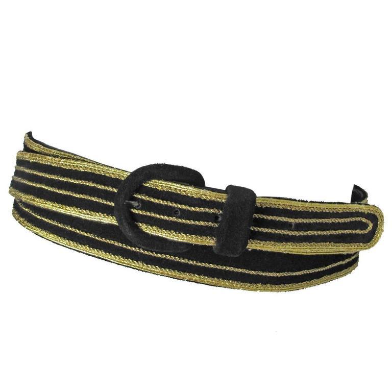 Yves Saint Laurent Suede Double Wrap Waist Belt For Sale