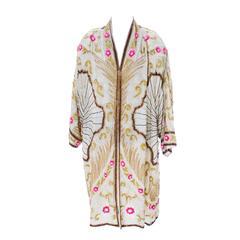 Birjand Gunit Beaded Vintage Evening Coat 1980s Flapper 1920s Style One Size