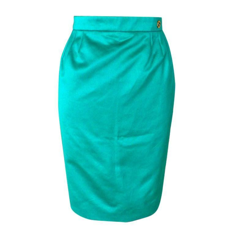 Gucci Skirt Emerald Toned Green 40 / 6  nwt