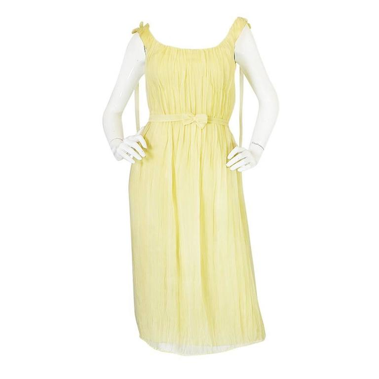 F/W 2005 Alexander McQueen Documented Runway Yellow Silk Dress 1