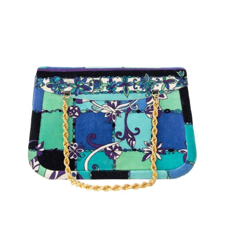 Emilio Pucci Velours Evening Bag 1