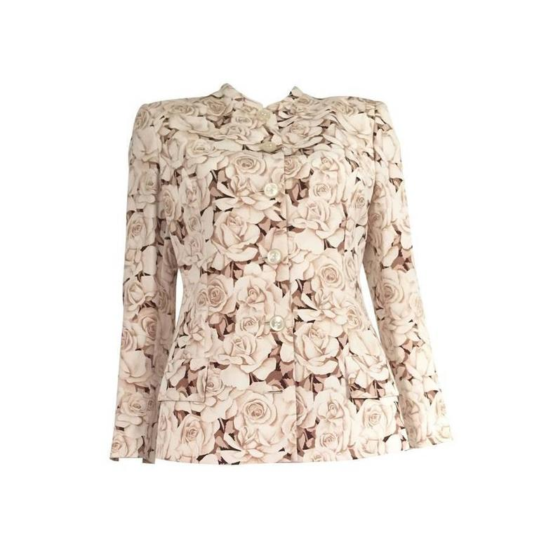 Valentino 90s Silk Jacket Size 4. 1