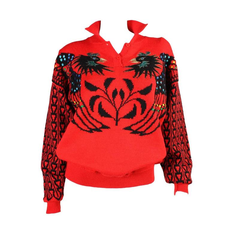 1980's Kansai Yamamoto Phoenix Sweater