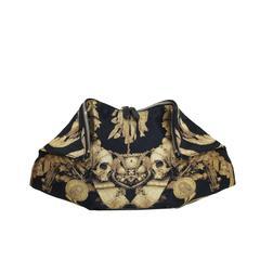Rare Alexander McQueen Black & Gold Gibbons Print de Manta Clutch Bag c. 2010