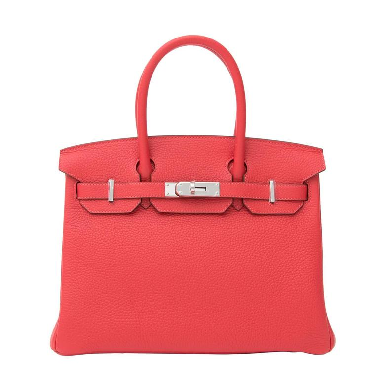 41cbb3b9184 BRAND NEW Hermès Birkin Bag 30 Togo Rouge Pivoine PHW at 1stdibs