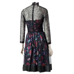 Karl Lagerfeld Lace and Printed Silk Dress + Bustier