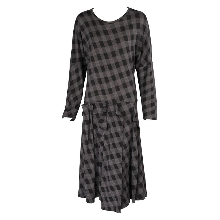 Comme des Garcons Black & Grey Checked Dress