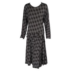 Comme des Garcons Black & Grey Checked Dress