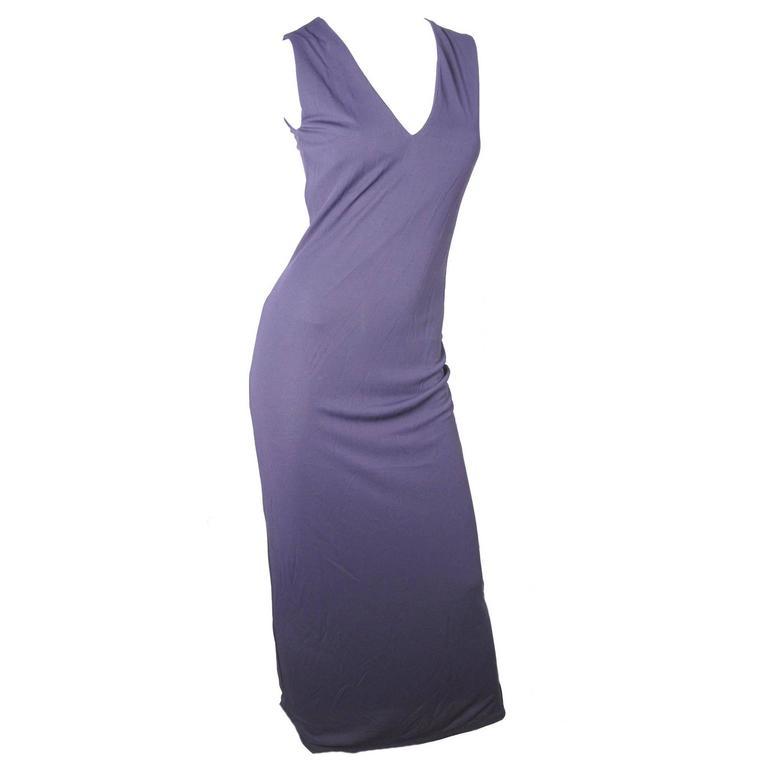 Gianfranco Ferre Purple Jersey Gown