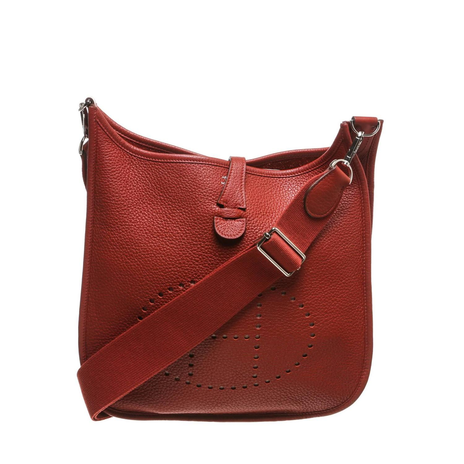 Hermes Sienne Clemence Leather Evelyne III Messenger Handbag at ...