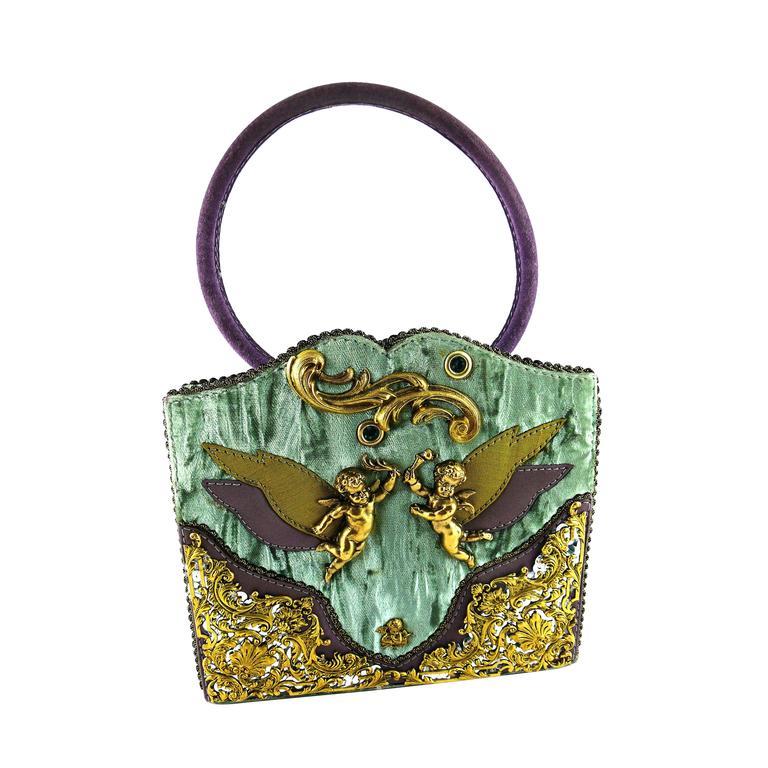 Helene Angeli Museum Quality Vintage Couture Baroque Angel Handbag For