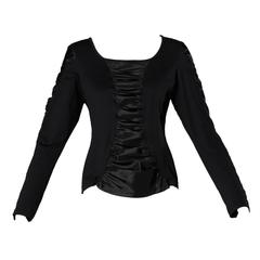 Anne Fontaine French-Made Ruched Long Sleeve Top or Shirt
