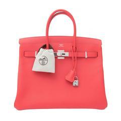 BRAND NEW Hermès Birkin Bag 35 Epsom Rose Jaipur PHW
