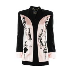 Escada Pink Silk and Cotton Elegant Jacket