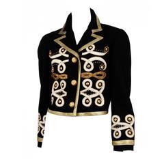 Versace Baroque Metallic Applique Jacket