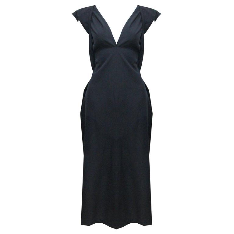 COMME des GARCONS black origami dress c. 1998 1