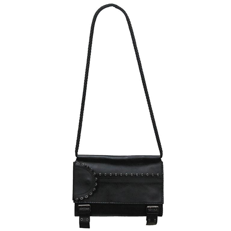 Tom Ford for Yves Saint Laurent runway black calfskin flap bag, Fall 2001 1