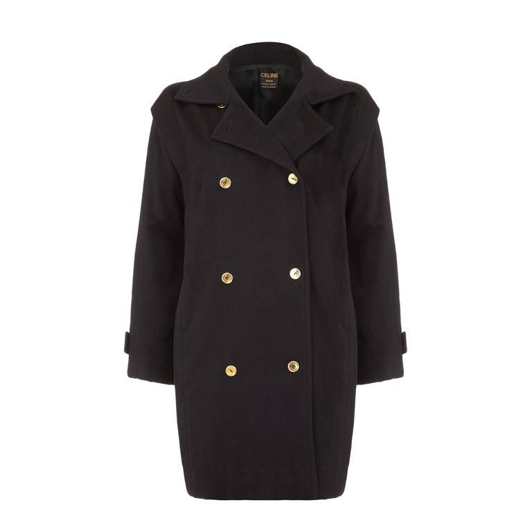 1980s Black Celine Coat