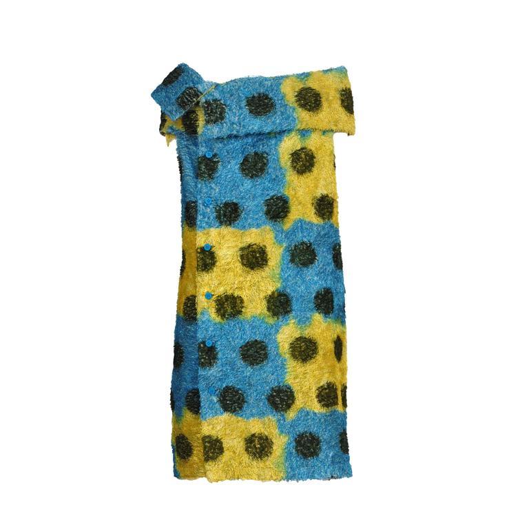 Issey Miyake Fuzzy Printed Dress